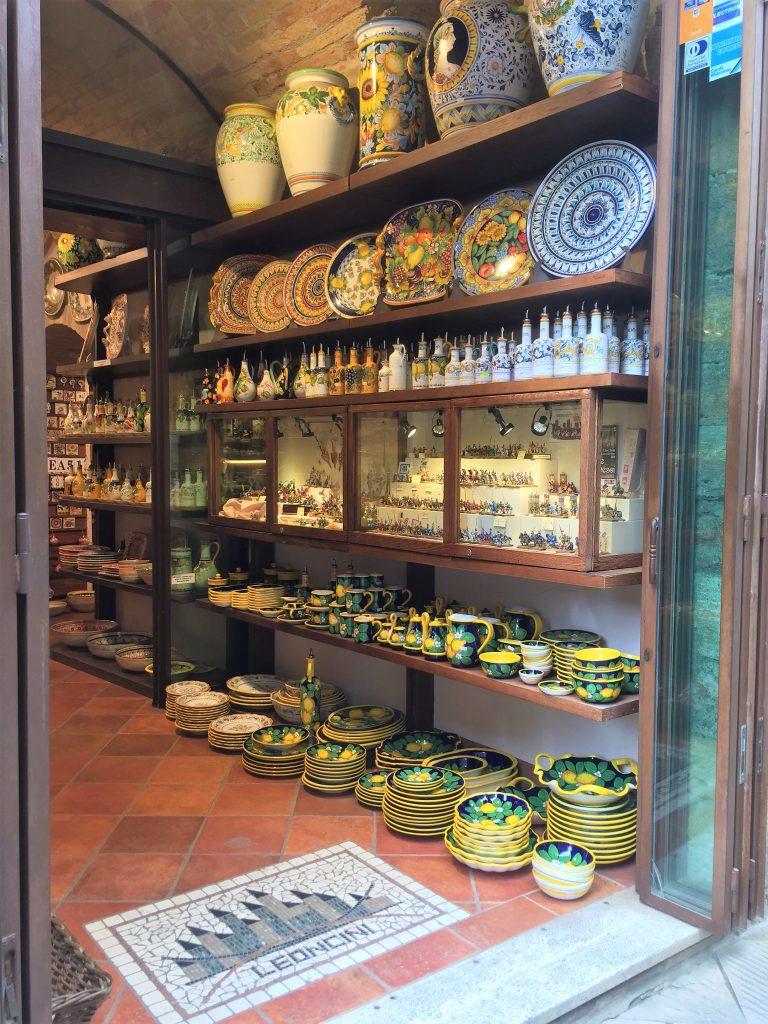 Ceramiche Leoncini a San Gimignano