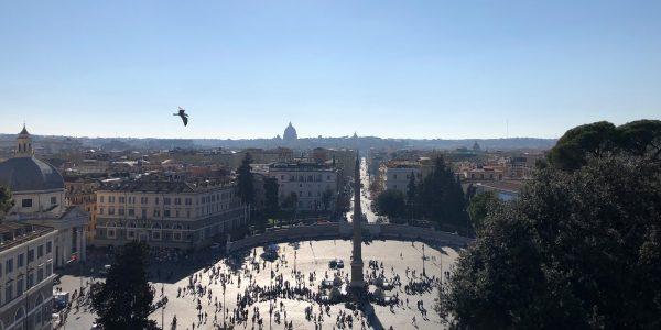 Piazza del Popolo, Roma. Appunti sul Coronavirus