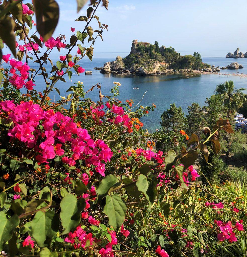 Isola Bella dalla scala che porta all'isola