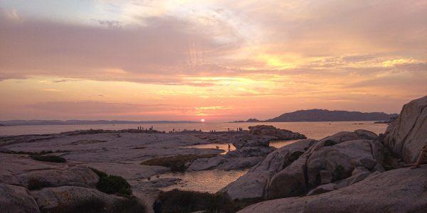 Tramonto sull'isola La Maddalena