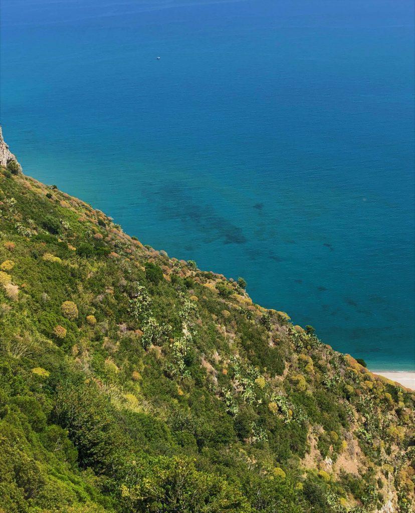 Vista dei laghetti di Marinello dal Belvedere di Tindari
