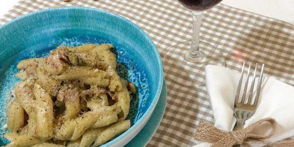 Piatto di pasta al pistacchio di Bronte