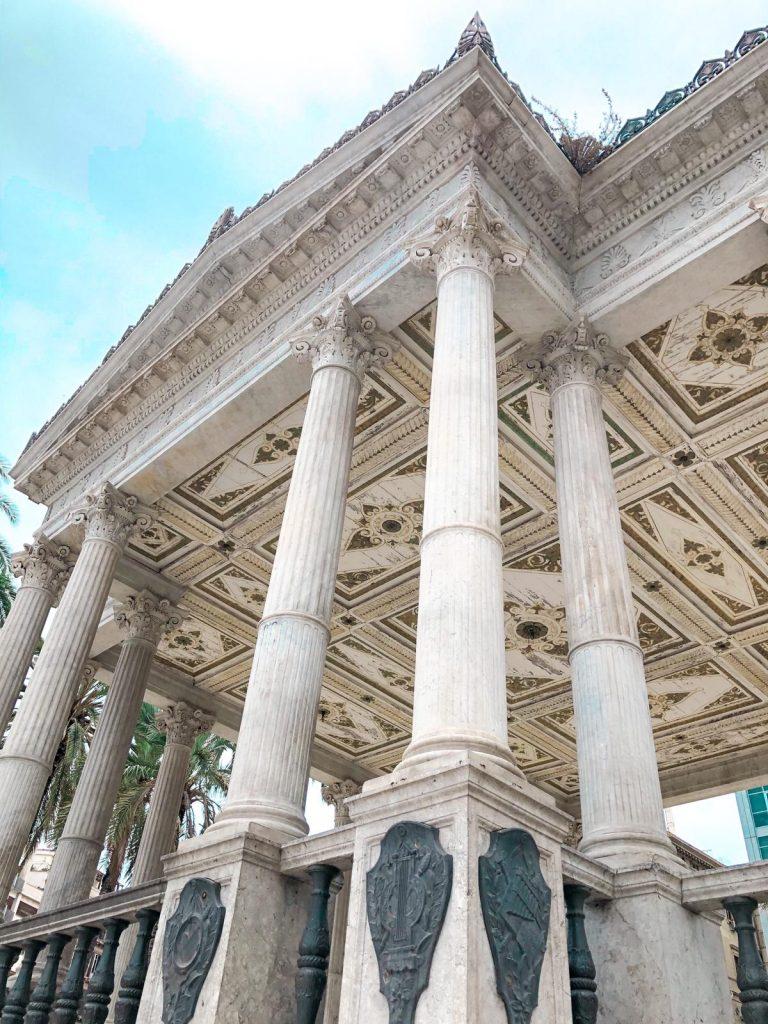 Palchetto della Musica, dettagli architettonici