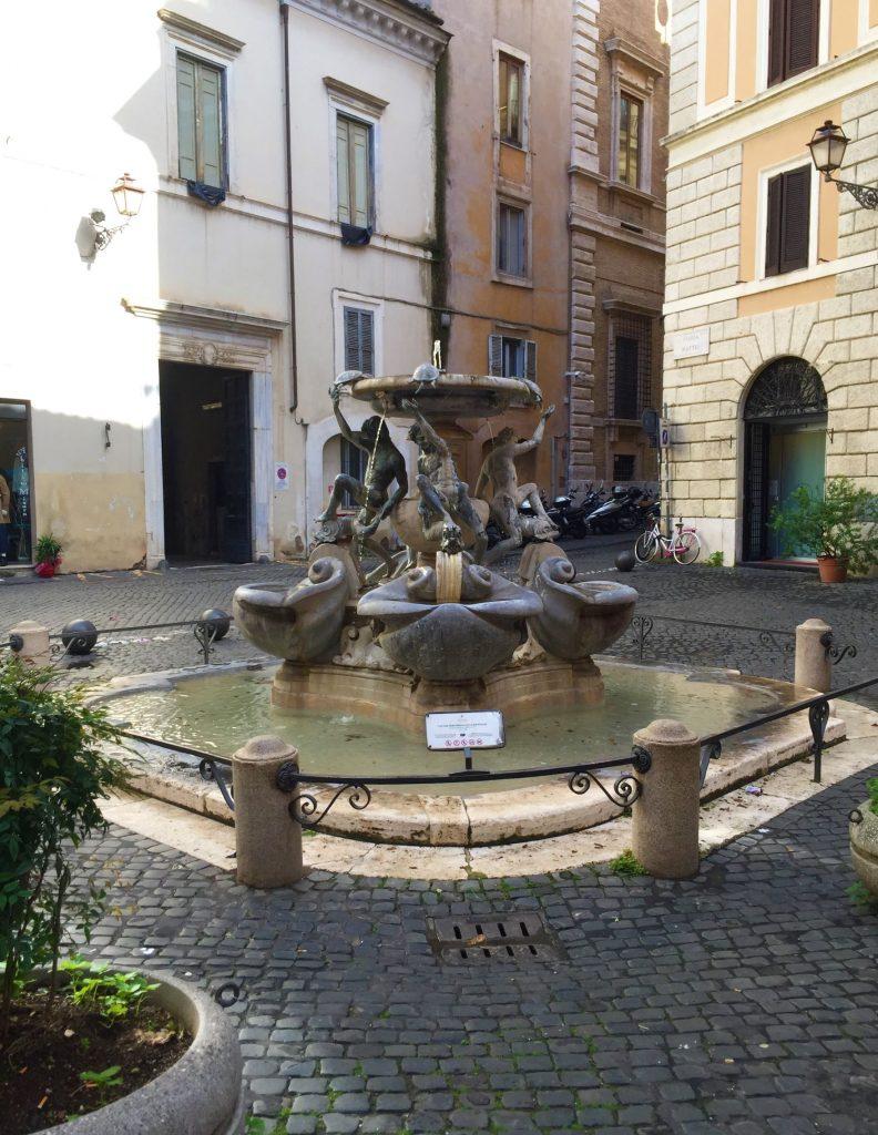 fontana delle tartarughe ghetto ebraico di roma