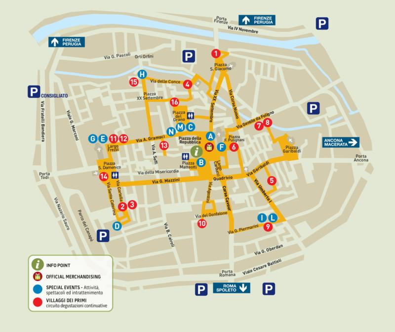 mappa itinerario festival dei primi 2020 foligno