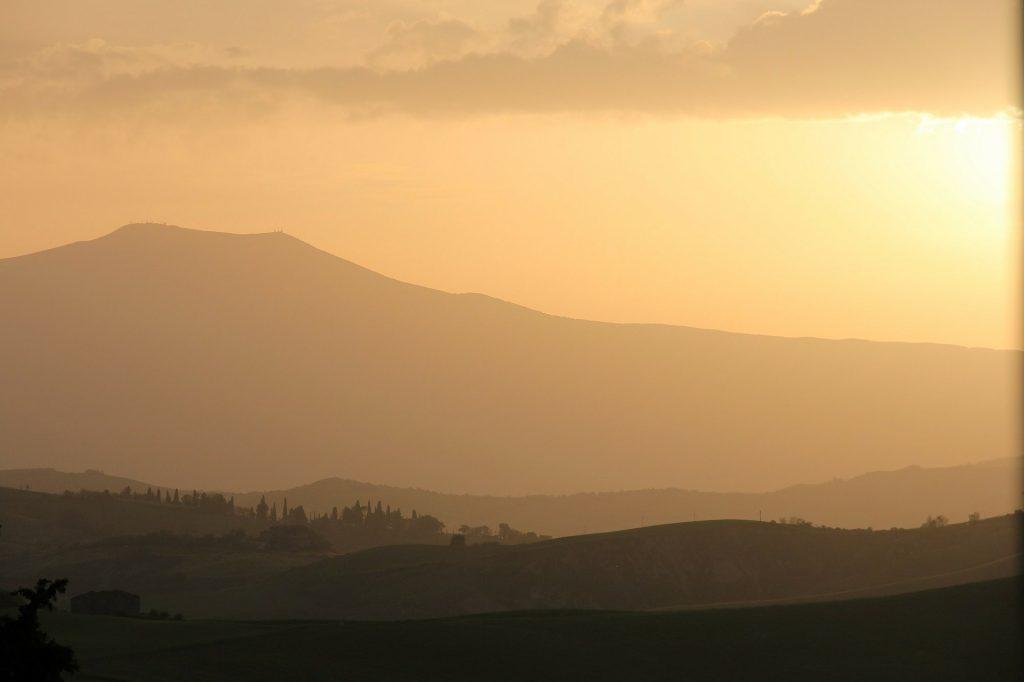 colline toscane al tramonto