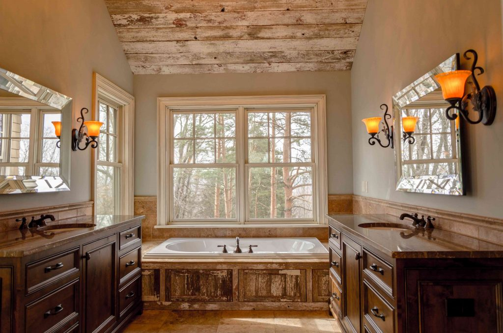arredamento bagno in stile country chic