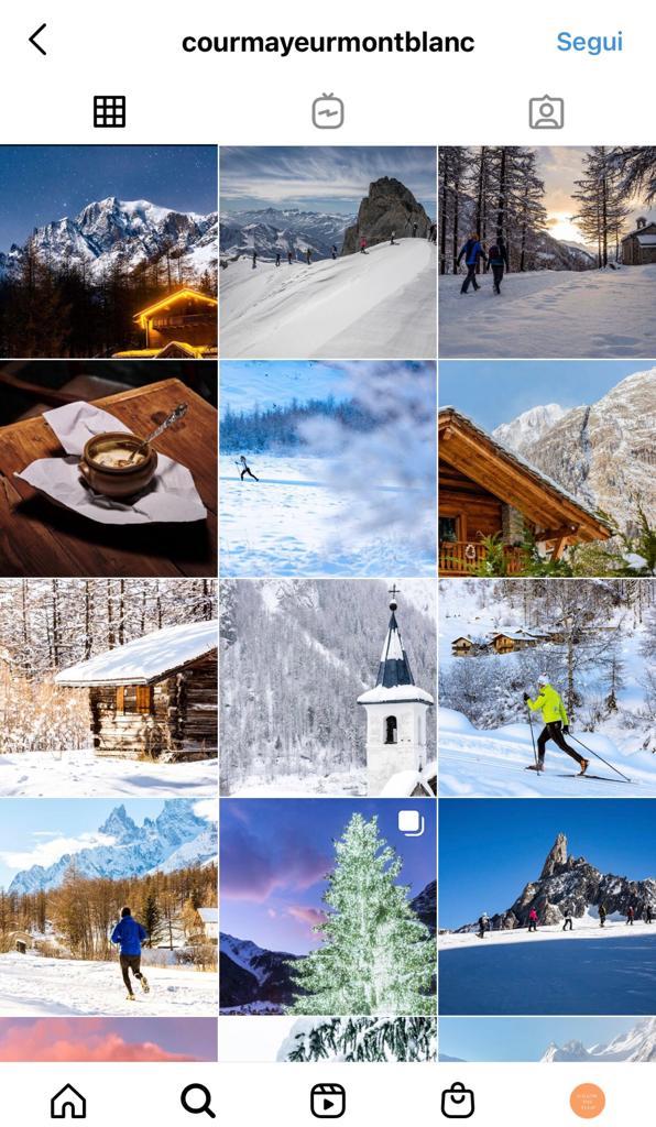 courmayeur su instagram
