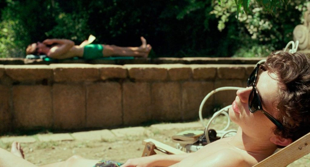 call me by your name scena piscina