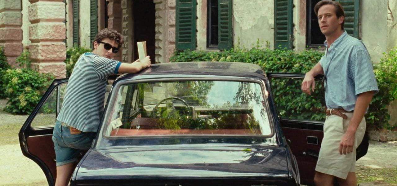 elio e oliver in auto